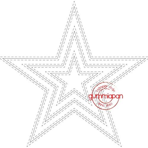 Gummiapan Dies, Stjärna, dubbelstygn D170737