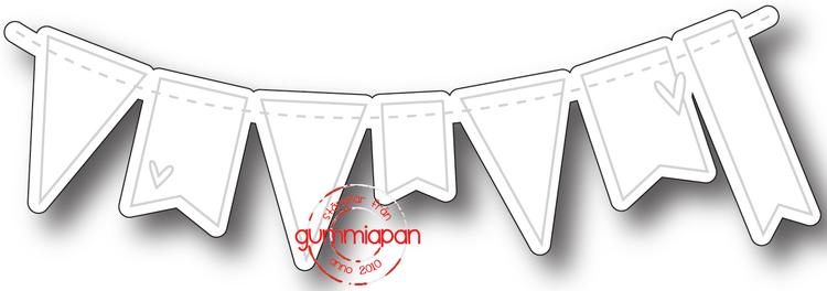 Gummiapan Dies, Dies till liten vimpelrad D170305