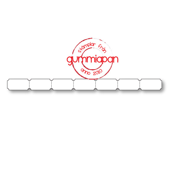 Gummiapan Dies, Ticket border D180542