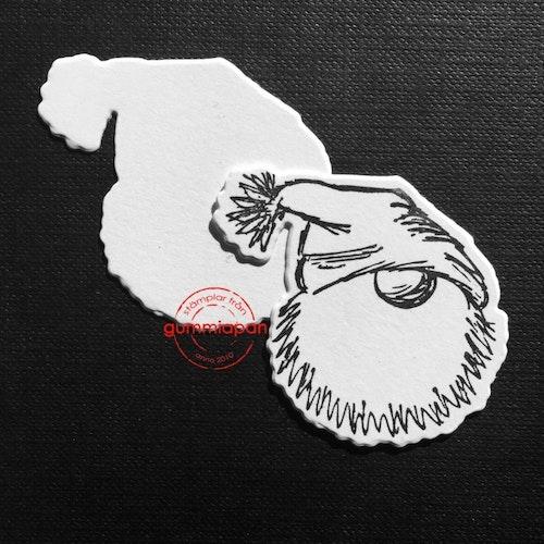 Gummiapan Dies, Dies till Mellanstor Trolltomtestämpel D160907