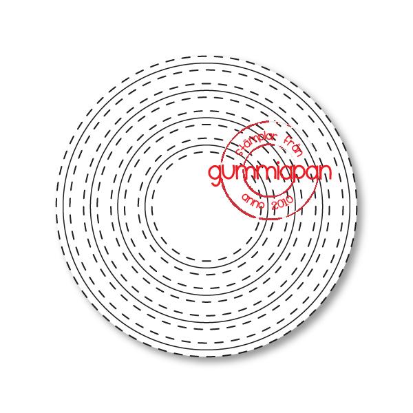 Gummiapan Dies, Double Stitch Circles D180802