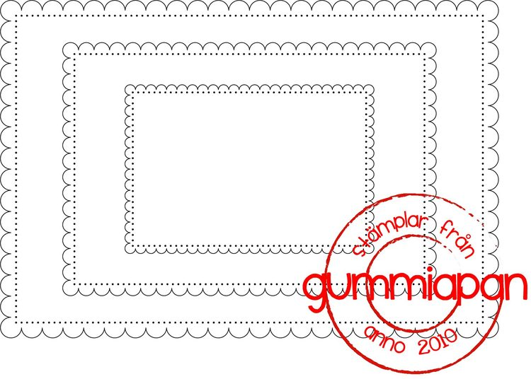 Gummiapan Dies, Scalloped Rectangle D170915