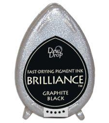 stämpeldyna, Brilliance Graphite Black Dew drop