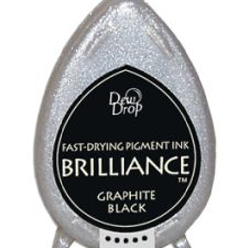 stämpeldyna, Brilliance Graphite Black Dew drop