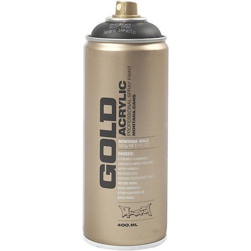 Montana Gold, sprayfärg, 400ml, Black