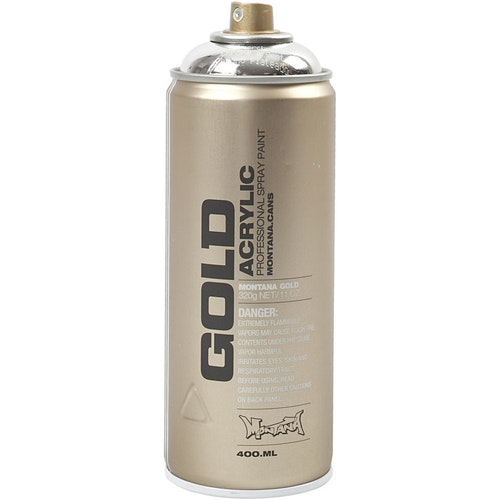 Montana Gold, sprayfärg, 400ml,  Silver