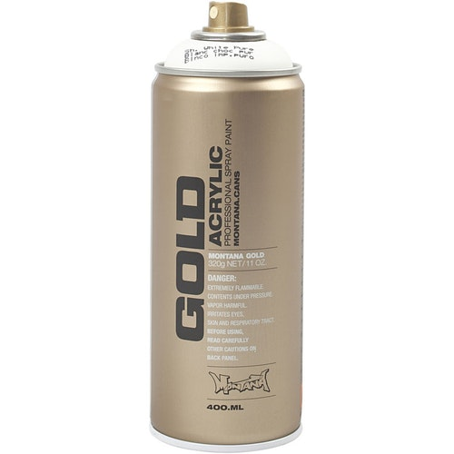Montana Gold, sprayfärg, 400ml,  Vit