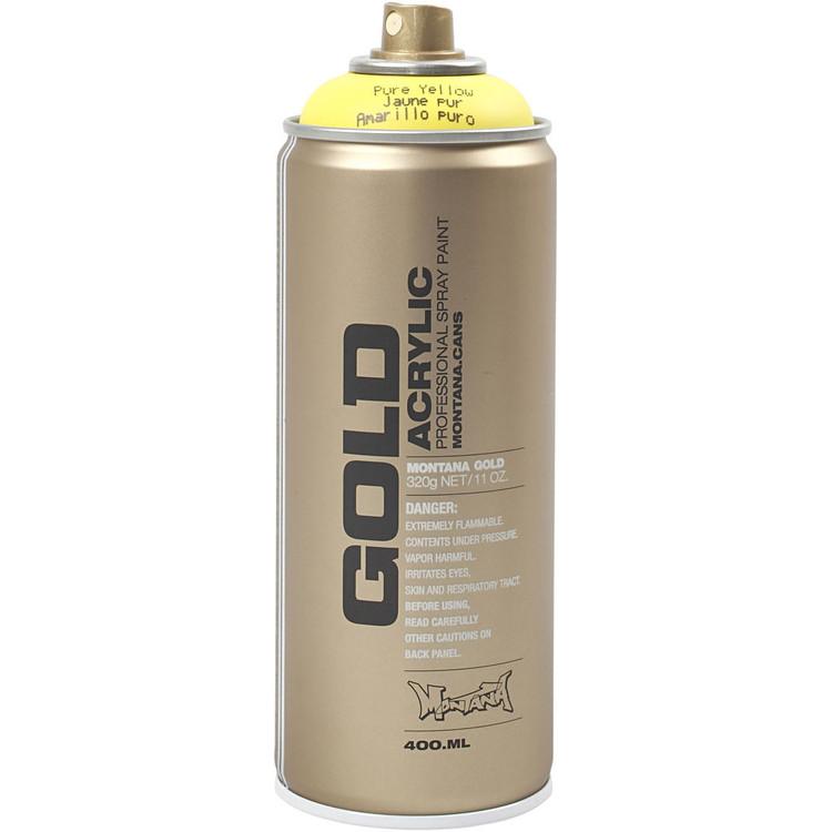 Montana Gold, sprayfärg, 400ml, Gul
