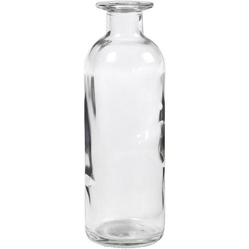 Glasflaska 16 cm hög
