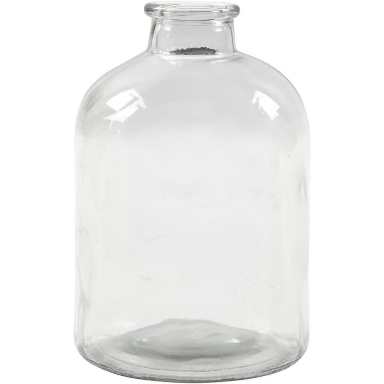 Apotekare flaska i glas höjd ca 16,5 cm