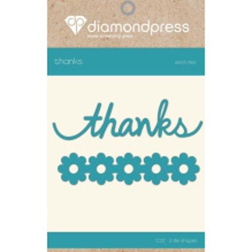 Diamond Press Word Dies - Thanks