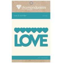 Diamond Press Word Dies - Love