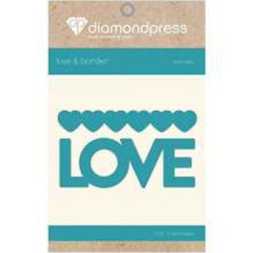 Diamond Press Word Dies - Love