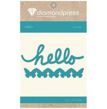 Diamond Press Word Dies - Hello
