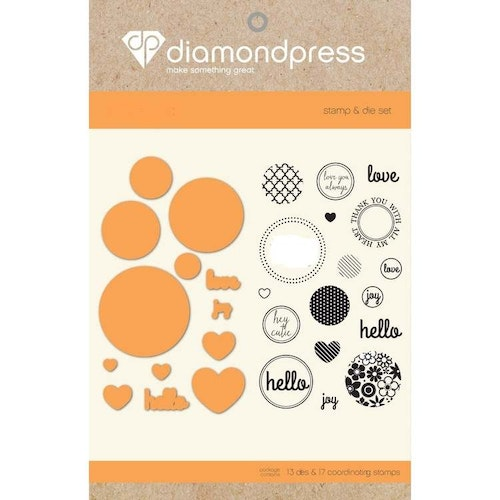 Diamond Press Stamp and Die - Circles and Hearts