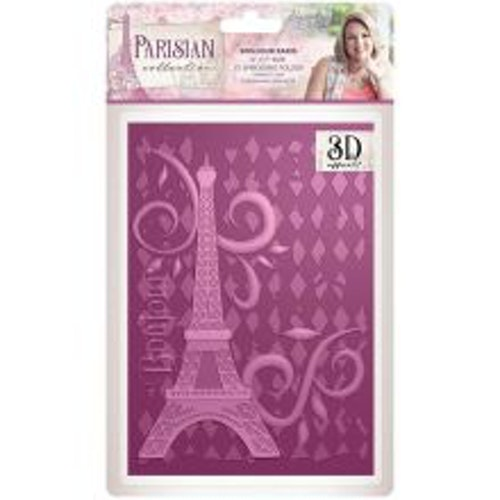Crafters Companion 3D Embossing Folder - Bonjour Paris