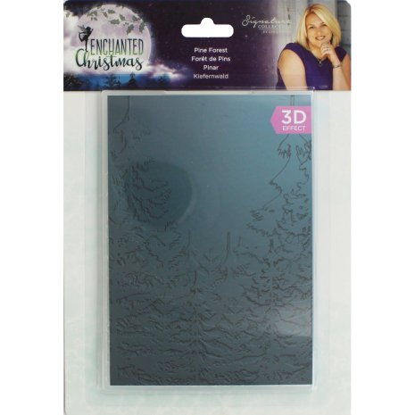 Crafters Companion 3D Embossing Folder - Pine Trees