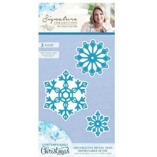 Crafters companion Winter Wonderland Metal Die - snowflakes of joy