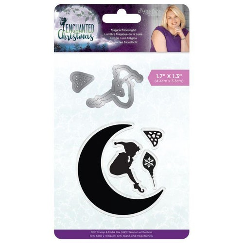 Crafters companion stamp & Metal Die - magical moonlight