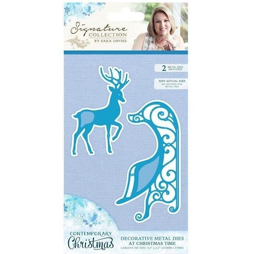 Crafters companion Metal Die - At christmas time