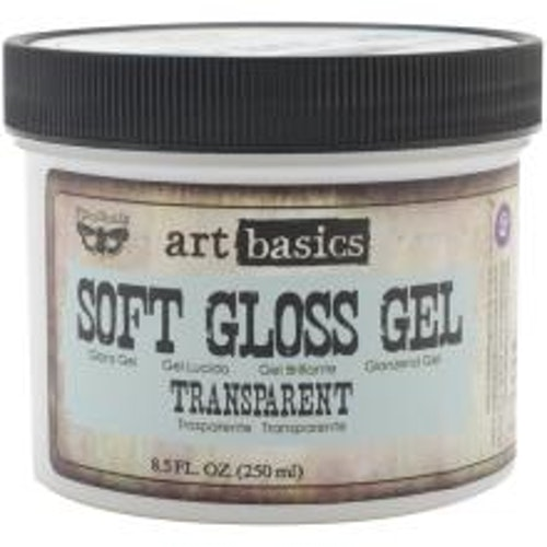 Prima Finnabair Art Basics Soft Gloss Gel 250ml - Transparent Gloss
