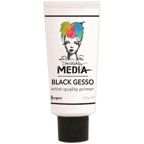 Dina Wakley Media black gesso 59ml