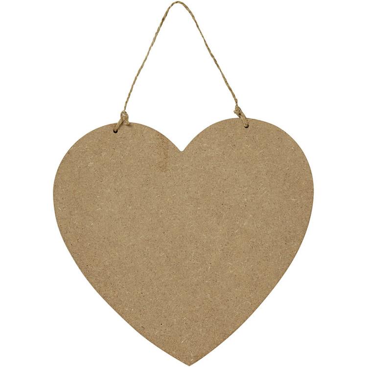 MDF hjärta ca 19,5x18,5 cm