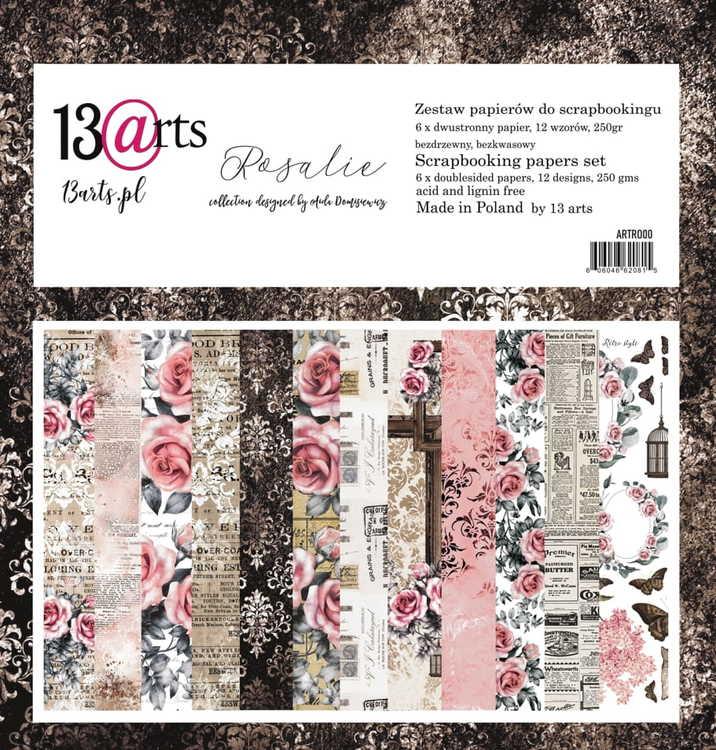 13arts set of 12x12 paper, Rosalie