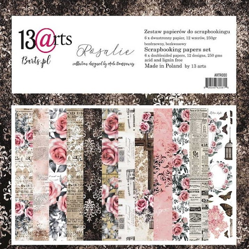 13arts set of 12x12 paper, Rosalie