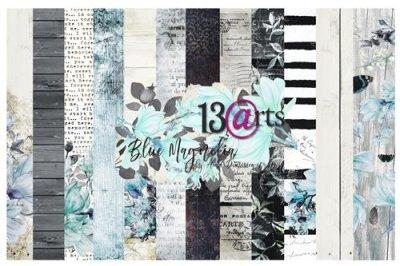 13arts set of 12x12 paper, Blue Magnolia
