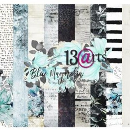 13arts set of 12x12 paper, Blue Magnolia