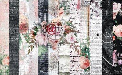 13arts set of 12x12 paper, Rose Fields