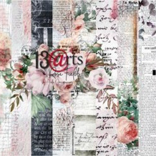 13arts set of 12x12 paper, Rose Fields