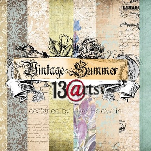 13arts set of 12x12 paper, Vintage summer