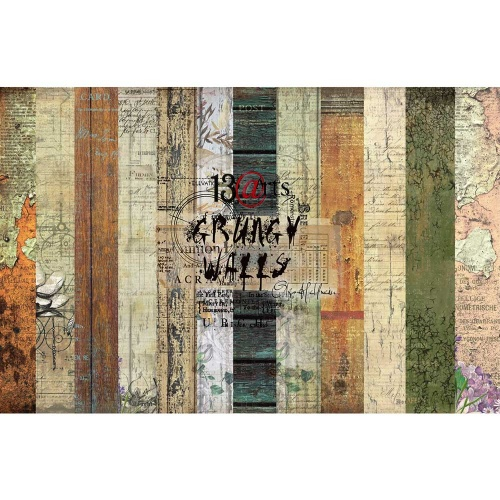 13arts set of 12x12 paper, Grunge walls