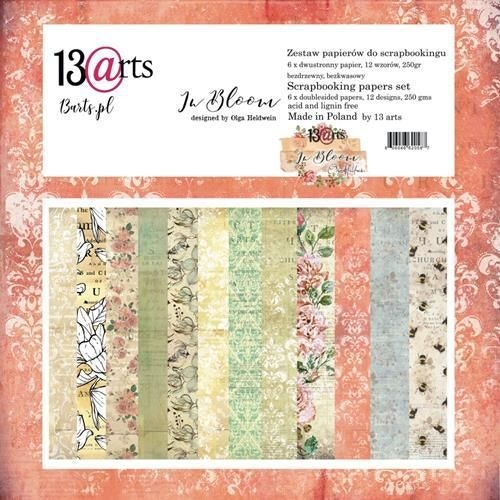 13arts set of 12x12 paper, in bloom