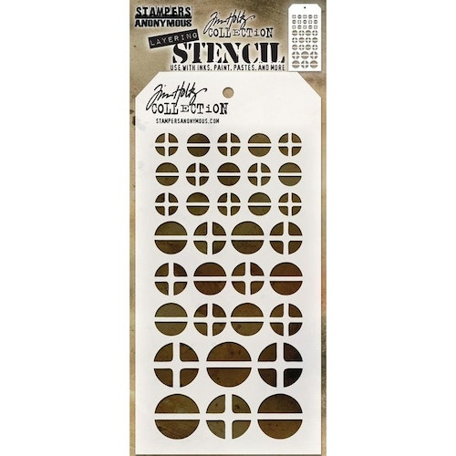 Tim Holtz Layered Stencil 4.125X8.5 - Screwed