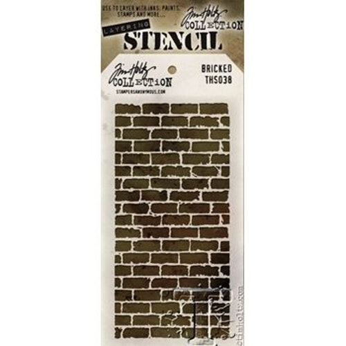 Tim Holtz Layered Stencil 4.125X8.5 - Bricked