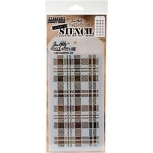 Tim Holtz Layered Stencil 4.125X8.5 - Plaid