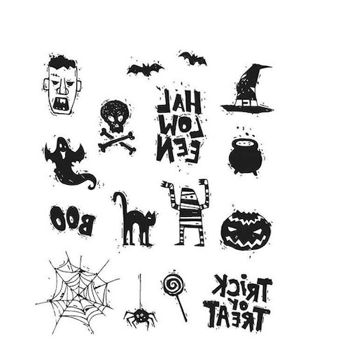 Stampers Anonymous Tim Holtz CMS349, Spooky scribbles