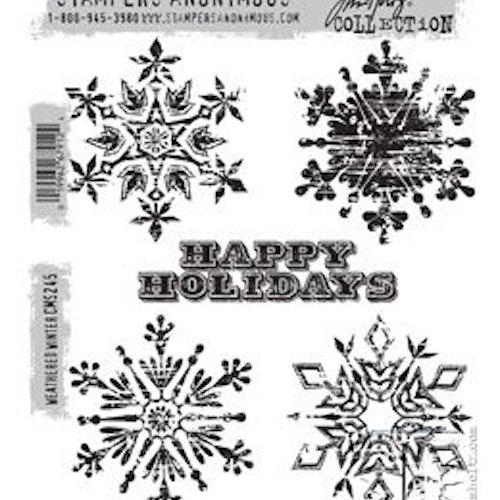Stampers Anonymous Tim Holtz CMS245, Weathered winter