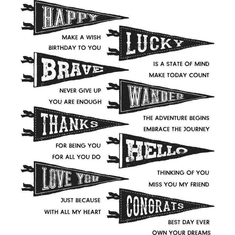 Stampers Anonymous Tim Holtz CMS330, Pennants