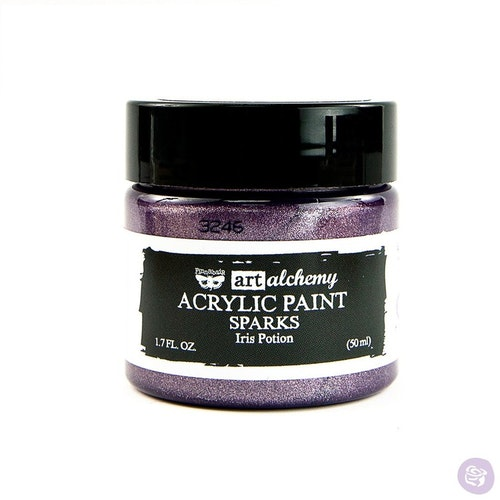 Finnabair Art Alchemy Acrylic Paint 50ml - SPARKS - Iris potion