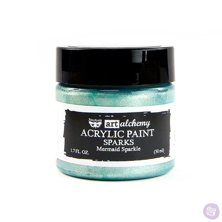 Finnabair Art Alchemy Acrylic Paint 50ml - SPARKS - Mermaid sparkle