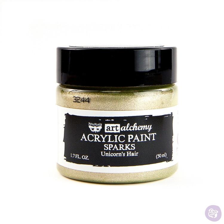 Finnabair Art Alchemy Acrylic Paint 50ml - SPARKS - Unicorn's hair