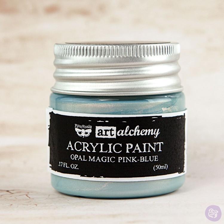 Finnabair Art Alchemy Acrylic Paint 50ml - Opal Magic - Pink-Blue