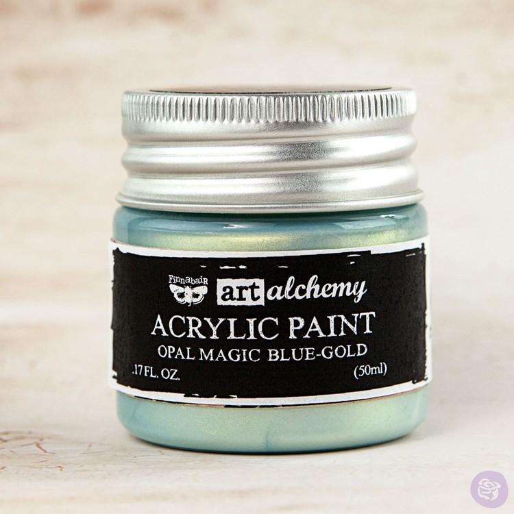 Finnabair Art Alchemy Acrylic Paint 50ml - Opal Magic - Blue-Gold