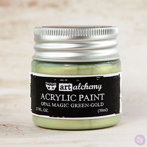 Finnabair Art Alchemy Acrylic Paint 50ml - Opal Magic - Green-Gold