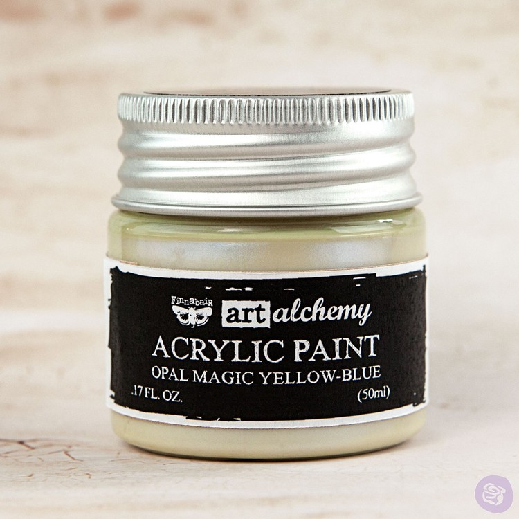 Finnabair Art Alchemy Acrylic Paint 50ml - Opal Magic - Yellow-Blue