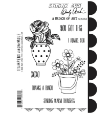 Stampers Anonymous, Wendy Vecchi Cling Stamps - A Bunch Of Art